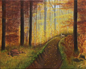 Autumns Wooded Riverbed_16x20_102015